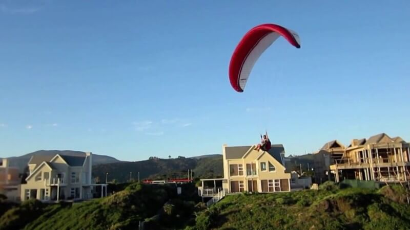 Wilderness paragliding