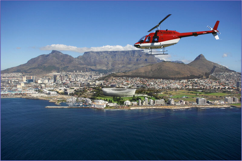 Cape Town by heli